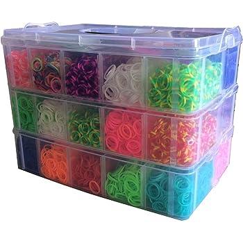 200 300 2x ca 600 Loom Bänder Bands Starter Box Set Webrahmen Charms Gummibänder