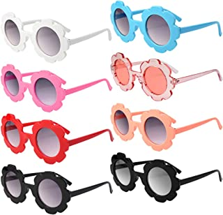 8 Pieces Sunglasses, Round Flower Shaped Sunglasses for Party Accessories, Fun Gifts,Party Toys Halloween Dress up