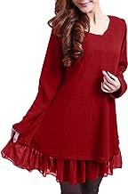 ZANZEA Mujer Vestidos Elegante Algodón Corto Casual Gasa Lazo Cuello Redondo Camisetas Manga Larga Chic Fiesta Otoño Invierno Tallas Grandes