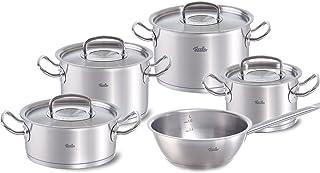 Fissler original-profi collection / Juego de ollas de acero inoxidables, compuesto por 5piezas, con sartén honda sin tapadera, apta para cocinas de inducción, gas, vitrocerámica y eléctricas