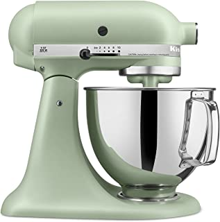 KitchenAid RRK150PI Artisan Series 5-Qt. Stand Mixer with Pouring Shield - Matte Pistachio (CERTIFIED REFURBISHED)