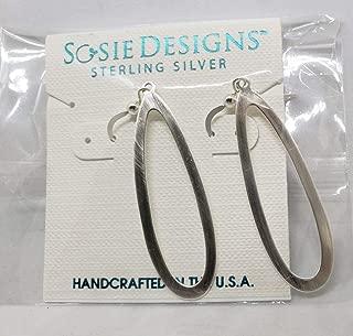 Sosie Designs Jewelry Organic Brushed Open Teardrop Earrings