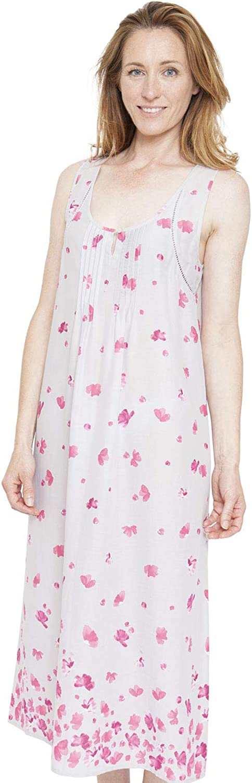 Cyberjammies 1301 Women's Nora pink Ivy Grey Floral Nightdress