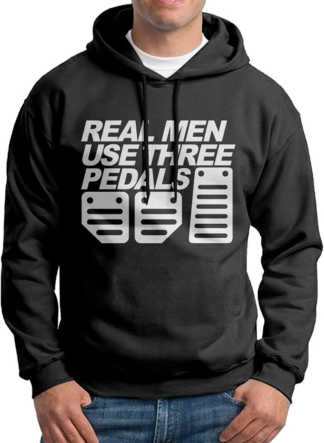 1d4285140 FDLB Mens Real Men Use Three Three Three Pedals Hiphop Particular Hoodie  Sweatshirt Black c81536
