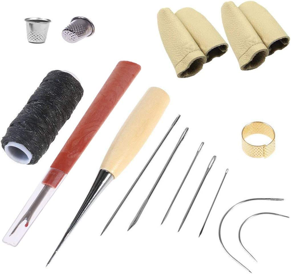 QISF Curved Upholstery Repair Kit Hand Sewing Needles Set with L