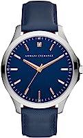 ساعة رسمية للرجال من ارماني اكستجينج بسوار جلد - AX2406