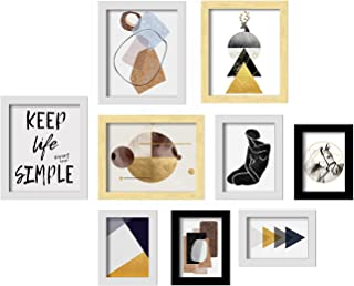 Abstract Set of 9 Art Print, Multicolored Painting for Home Décor, Paintings with Frame for Living Room Size -5x7 , 6x8, 8...