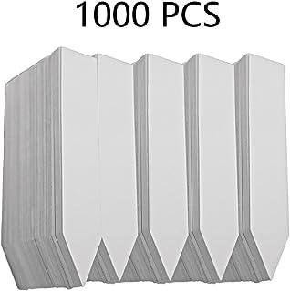 YIKUSH 1000 PCS PVC Plastic Plant Labels for Nursery Pots,4 inch,White