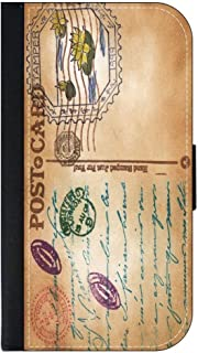 Vintage Style PostCard TM Leather and Suede Look Passport Cover with Double-Sided Design Made in the USA
