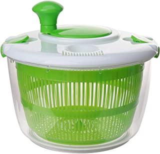 UPKOCH Kitchen Salad Spinner Lettuce Washer Dryer Drainer Crisper Strainer Compact Storage for Washing Drying Leafy Vegeta...