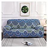 WXJ Cubierta Colorida geométrica del sofá de la impresión Cubierta elástica de la Cubierta del sofá Anti-Sucio Sofá de la Toalla de la Cubierta del sofá (Color : 19, Specification : 2 Seat 145 185CM)