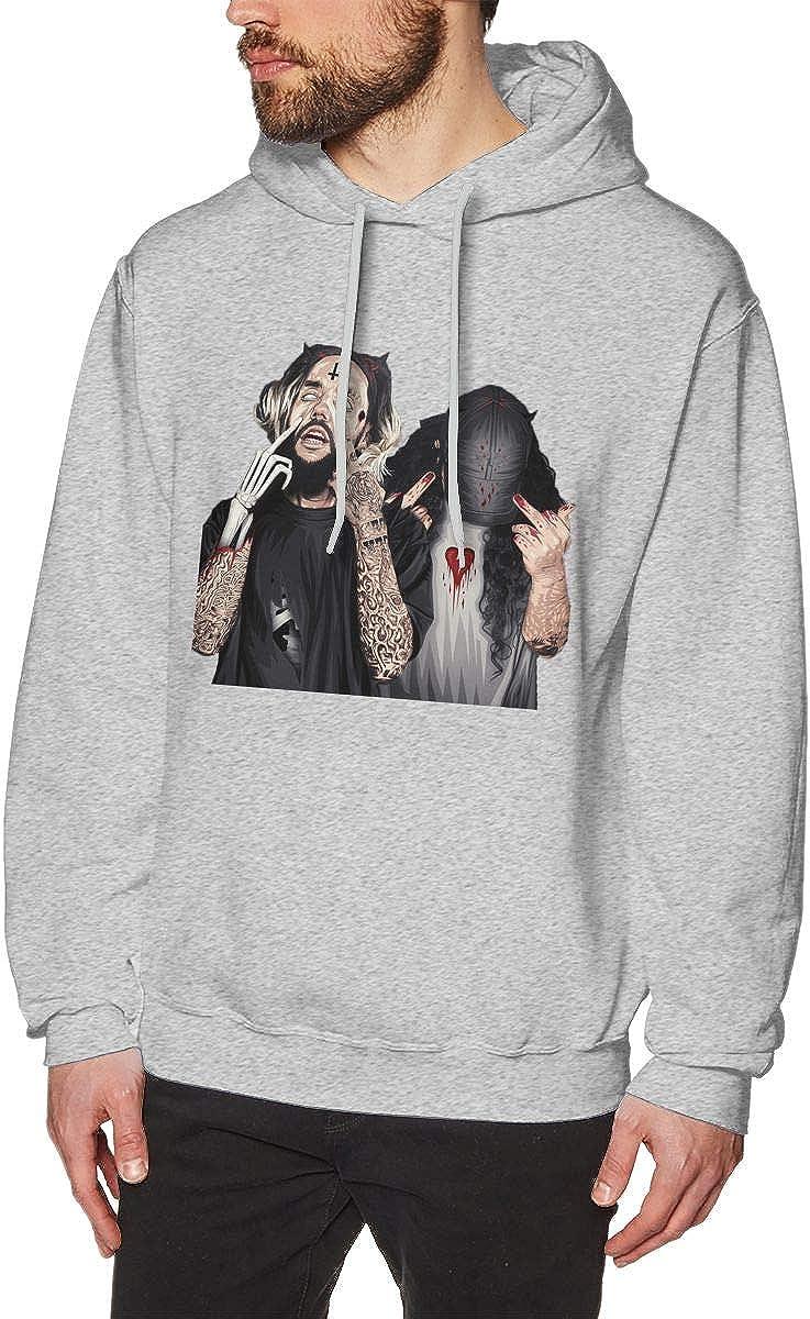 Suicide Boys 秀逸 Mens Hooded 新商品 Sweatshirt Design Unique A Black