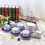 Daily Accessories Coffee Cups Saucer Set Fine Porcelain Perfectly Coordinated Porcelain Set for Tea Coffee Cappuccino for 6 Persons