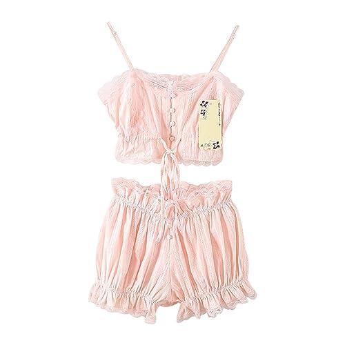 e07336c7f7 TOMORI Womens Vintage Pajamas Lolita 2 Pieces Sleepwear Victoria Lace  Lingerie Set