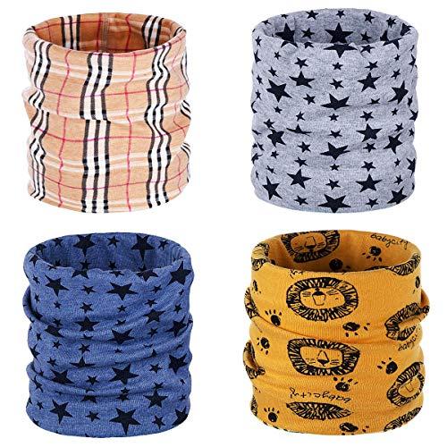 ANSUG Calentador de cuello de algodón de 4 piezas para niños, ...