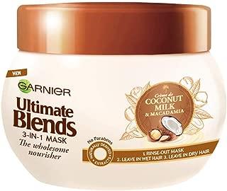 Garnier Ultimate Blends Coconut Milk Dry Hair Treatment Mask, 300 ml
