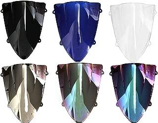 Double Bubble Windscreen Wind Deflectors Windshields For Kawasaki NINJA ZX250R ZX 250R 250 R 2008-2012 (Dark Iridium)