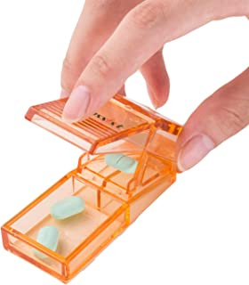 Ultrassist High Transparent Pill Cutter Tablet Splitter with Strong Hinge, Pill Splitter for Accurate Cutting of Large Vit...