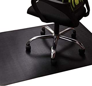 Office Chair Mat for Hardwood and Tile Floor, Black, Anti-Slip, Non-Curve, Under the Desk..