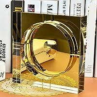 Xuan - worth having ゴールドスクエアクリスタルガラス灰皿リビングルームの装飾 (Size : 18*18*4cm)