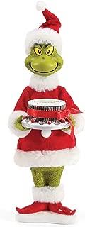 Department 56 Possible Dreams Santa Dr. Seuss The Grinch Fruitcake Figurine, 12 Inch, Multicolor
