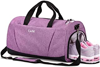 Sports Gym Bag with Wet Pocket & Shoes Compartment for...