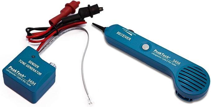 138 opinioni per PeakTech P 3434- Cercafase per cavi e cavi telefonici, con tester di continuità