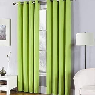Fiesta Solid Color Window Curtain Panel, 50 x 84, Lemongrass Green