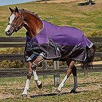 (ウェザビータ) Weatherbeeta 馬用 Comfitec プラスライト ダイナミック スタンダードネック ターンアウトラグ 馬着 乗馬 ホースライディング (6フィート) (パープル/ブラック)