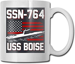 SSN-764 USS Boise Ultra White Ceramic Funny Coffee Mug Short Mug Mark Mug Unique Coffee Oz Coffee Mug