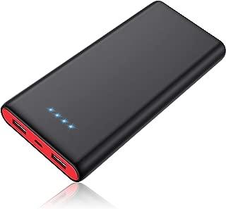 モバイルバッテリー 25800mAh 大容量 【PSE認証済】急速充電 2USB出力ポート 残量表示 スマホ充電器 iPhone/iPad/Android機種対応 12ヶ月保証