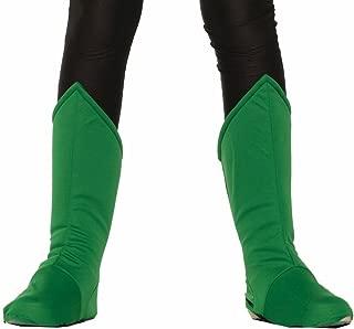 Forum Novelties Child Hero Boot Covers, Green