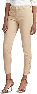RALPH LAUREN Womens Beige Straight leg Pants AU Size:12