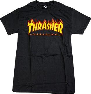 Thrasher Magazine FlameブラックスモールTシャツ