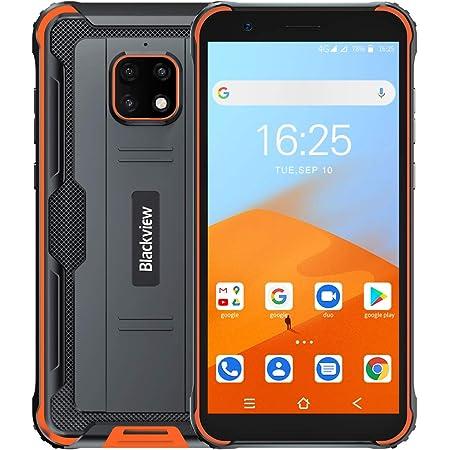 Blackview BV4900 SIMフリー スマートフォン本体 アウトドア Android 10 IP68 防水 防塵 耐衝撃 スマホ本体 5580mAhバッテリー 3GBのRAM + 32GBのROM 5.7インチ大画面 8MP+5MPカメラ タフネススマホ NFC 顔認証 デュアルSIM(Nano) 防災用品 1 付き(オレンジ)
