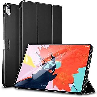 ESR iPad Pro 11 ケース 2018年秋モデルにフィット[Apple Pencilのペアリングとワイヤレス充電に非対応] iPad Pro 11 カバー 軽量 薄型 レザー 三つ折スタンド オートスリープ機能 2018年秋発売のiPad Pro 11インチ専用(ダークブラック)