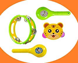 ESnipe Mart® Set of 4 Musical Rattle and Maraca Baby Rattle Toy for New Born Baby
