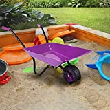 Marko Childrens Kids Metal Toy Wheelbarrow Purple Black Play Garden Gardening