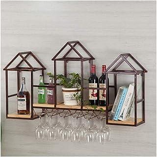 ZHXYY Porte-vin Suspendu Porte-Bouteilles Mural - Porte-Bouteille de vin, Rangement pour Organisateur de Porte-Verre à vin...