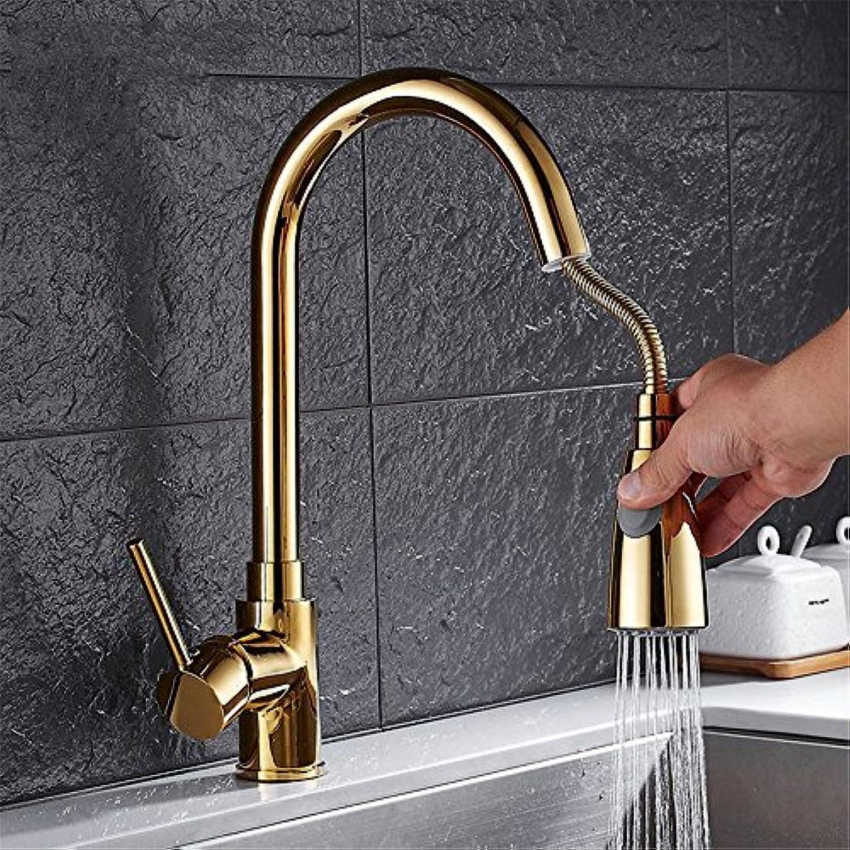 Bijjaladeva Wasserhahn Bad Wasserfall Mischbatterie Waschbecken Armatur für Das Kupfer Küche Wasserhahn Ziehen Das Leitungswasser Gerichte in Einer Badewanne Armatur Kalt-und Warmw