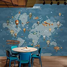 ysurehom Custom Any Size Mural Wallpaper 3D World Map Painting Background Cartoon Wall Kids Bedroom Living Room Wallpaper 3D Fresco