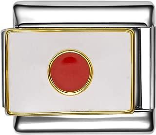 POLAND POLISH FLAG Enamel Italian 9mm Charm PE028 Fits Nomination Classic
