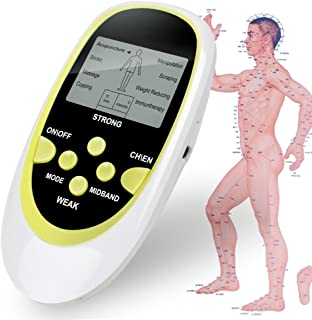 Digital Therapy Machine Pulse Full Body Acupuncture Massager 8 Pads Full Body Meridian Massager,Electric Pulse Slimming Muscle Relax Massage Body Electronic Pulse Massage pad Digital Pulse Therapy Acu