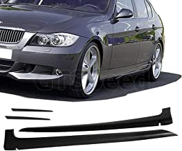GT-Speed for 2006-2008 BMW E90 4-Door/Sedan 3-Series AC Style PU Side Skirt Extensions Splitter Lip (Not Compatible with 2 Door/Coupe)