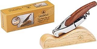 LAGUIOLE - Cuchillo Sumiller Doble Palanca - Cuchillo con funciones de sacacorchos, corta-cápsulas y abrebotellas - metal, madera de pakka - Marrón