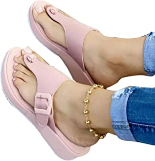 laoonl Ladies Flip Flops Flat Sandals Beach Shoes, Comfortable And Convenient