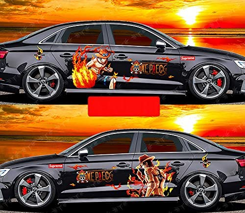 ONE Piece: Portgas·D· Ace Animation 2021 new Albuquerque Mall Stickers Sti Waterproof Car