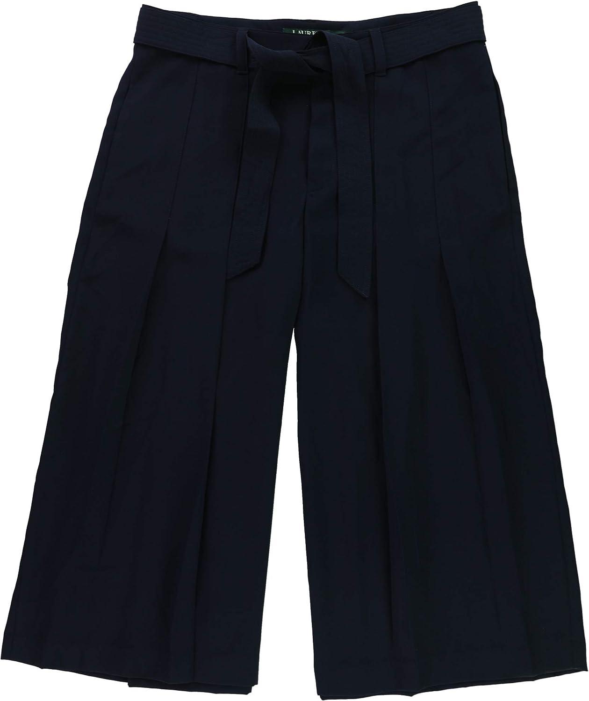 Ralph Lauren Womens WideLeg Culotte Pants Navy 10P 22  Petite