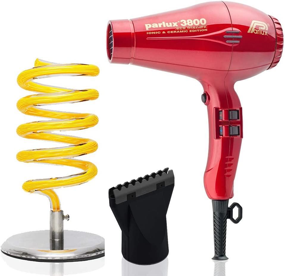Sales for sale Parlux 3800 RED Eco Friendly Ionic Pibbs Ceramic and Large-scale sale Dryer Hair