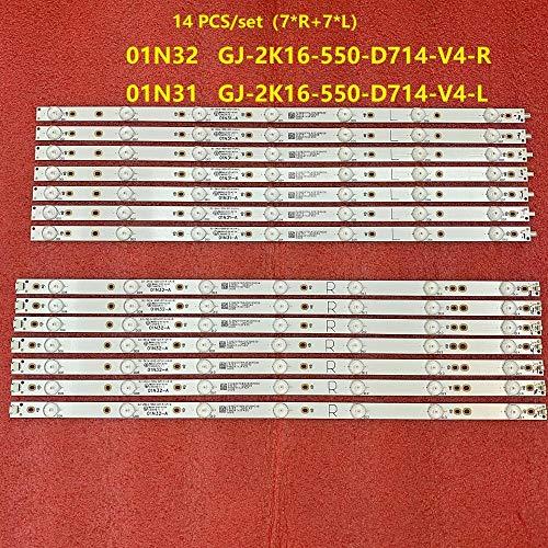 Miwaimao 14 PCS LED Backlight Strip for 55PFF5701 55PUS6501 GJ-2K16-550-D714-V4-R L S1 55PUH6101 55PUS6581 55PUS6561 55PUS6101 55PUS7272